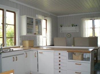 Die voll ausgestattete Küche des ferienhauses