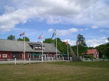 Rezeption und Kiosk Gentnö Gård.