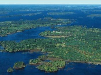 Luftaufnahme von Getnö Gård.