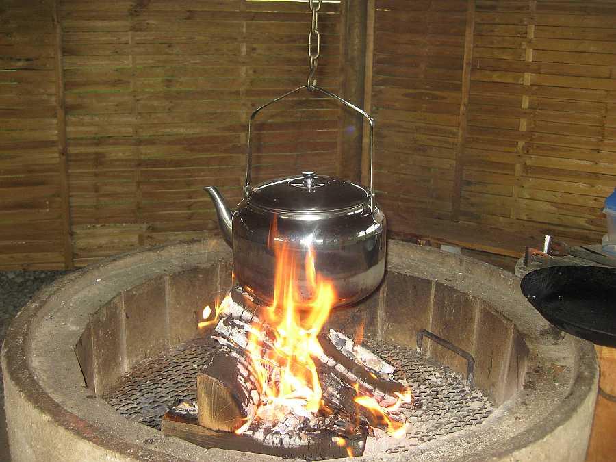 Kochen in der Grillhütte