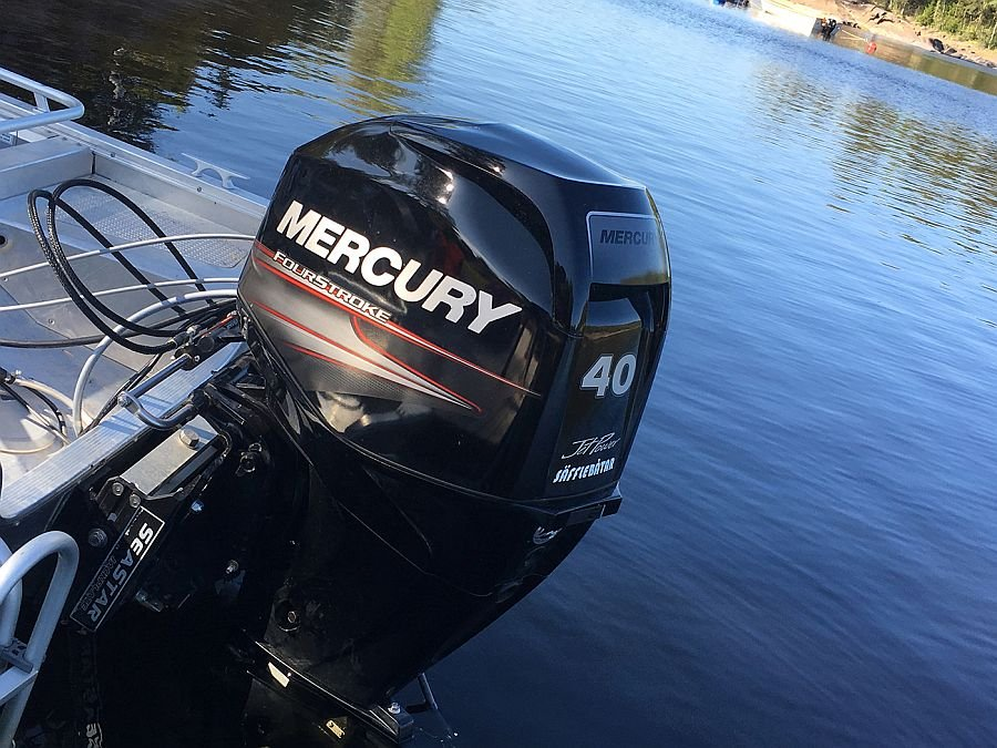 40 Ps Mercury mit Jet Antrieb,