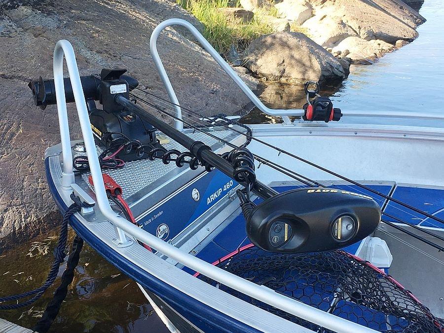 Das Boot hat sogar einen hochwertigen Minnkota E-Motor!!!