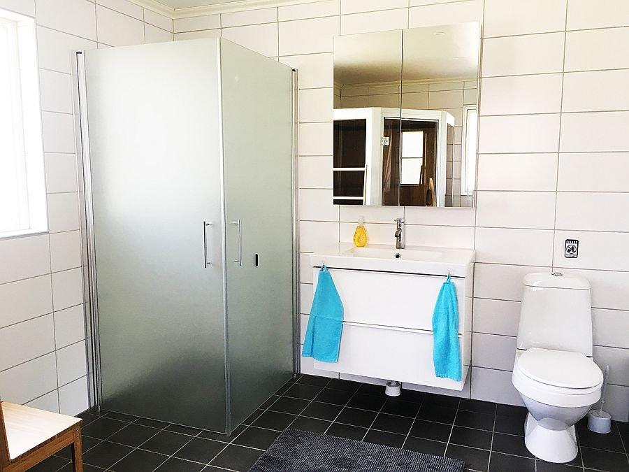 Das Badezimmer.
