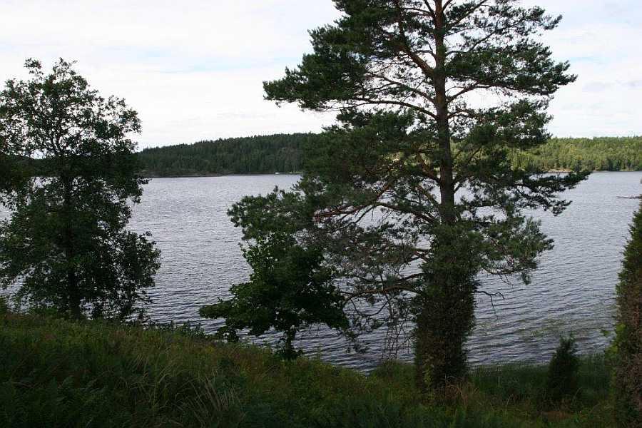 Blick auf den See Östra Silen