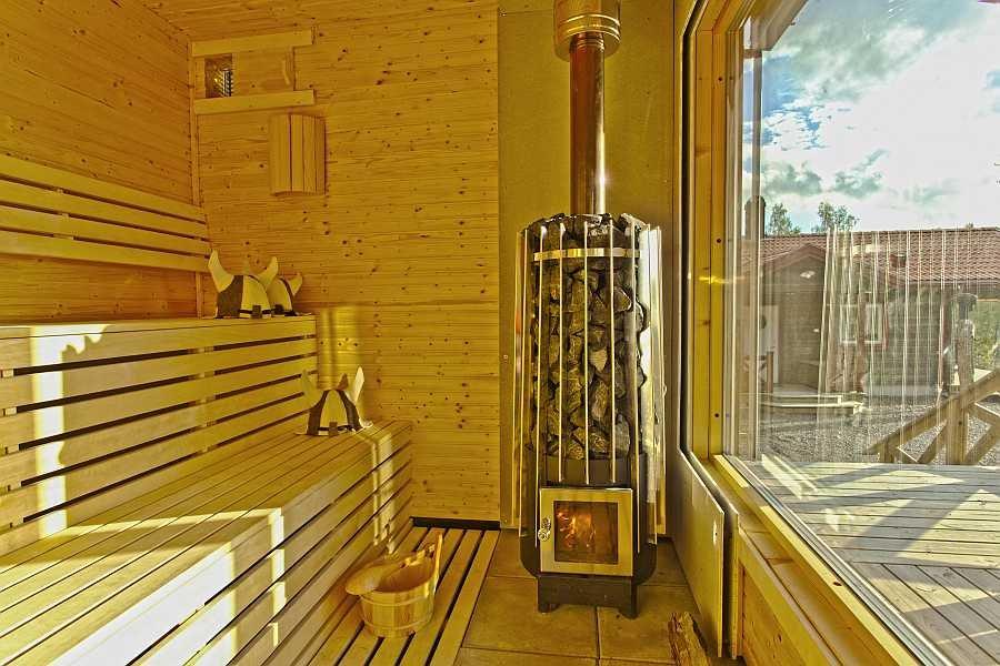 Die hauseigene Sauna mit Blick auf den See!