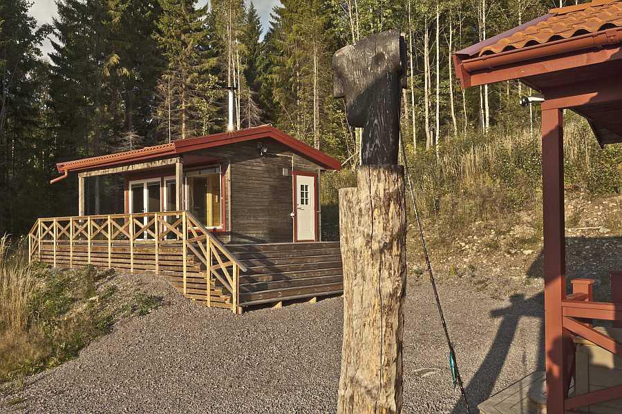 Sauna vom Ferienhaus Laxen.