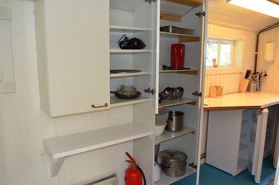 Ausstattung der Küche.