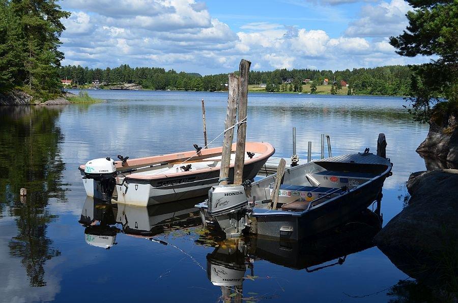 Der Bootsplatz von Haus Nolnäset.