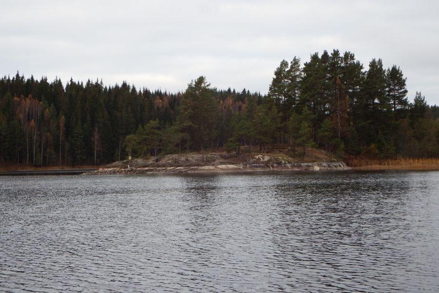 Der Blick auf den See vom Bootssteg.