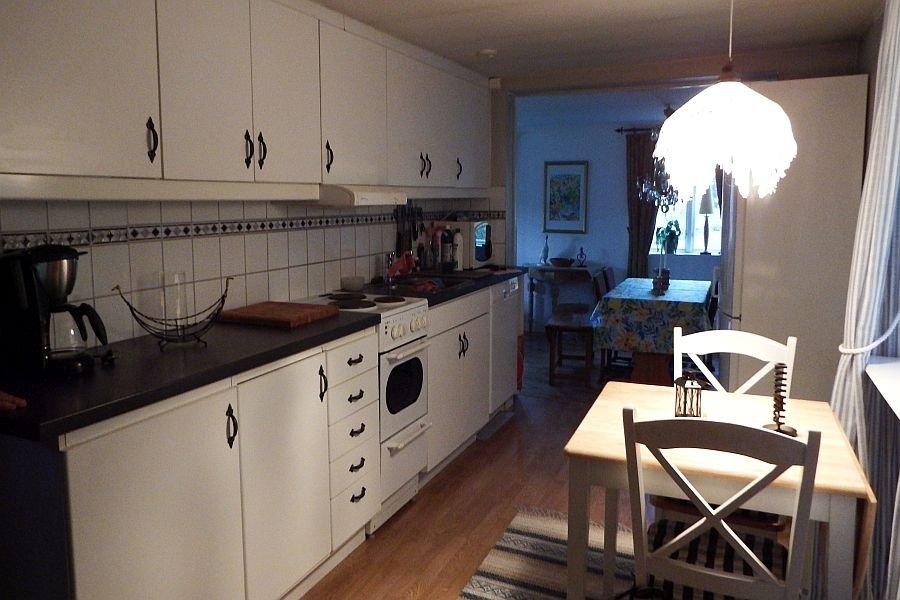In der großen Küche können Sie Ihren Kochkünsten freien lauf lassen.