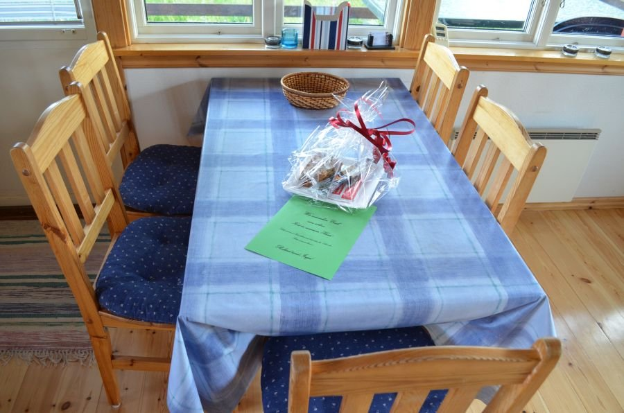 Bei Ankunft im Haus Öringen werden Sie mit einem Willkommensgeschenkt empfangen!