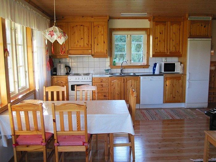 Blick auf den offenen Kochbereich