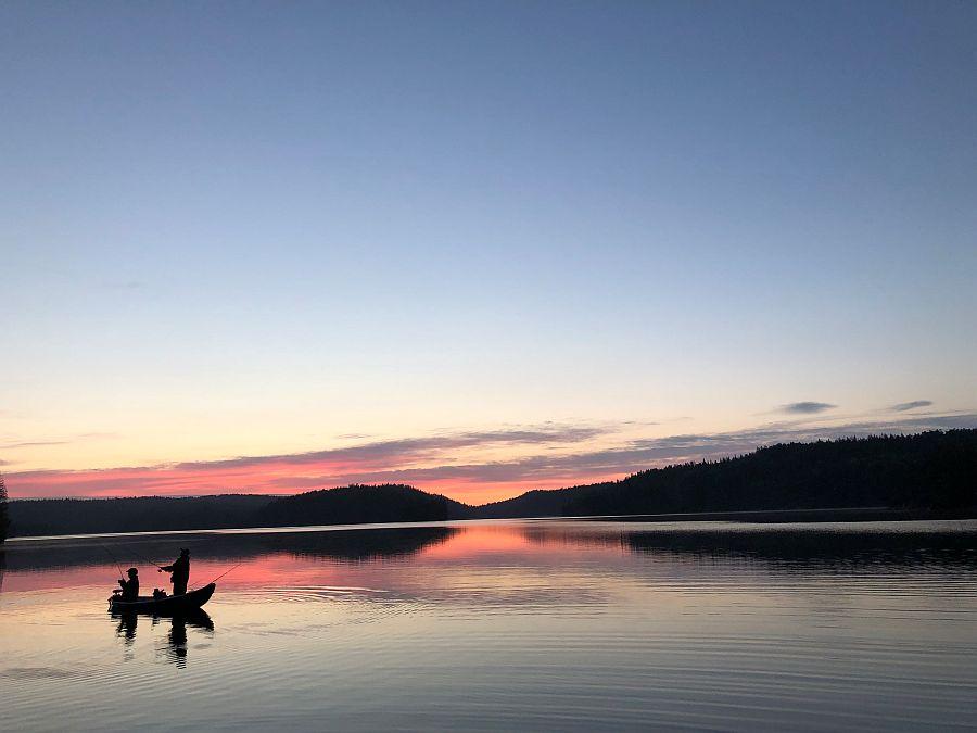 Abendstimmung auf dem See