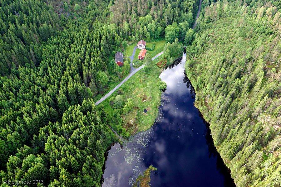 Traumhaft! Blick von oben auf das Haus Andersson.