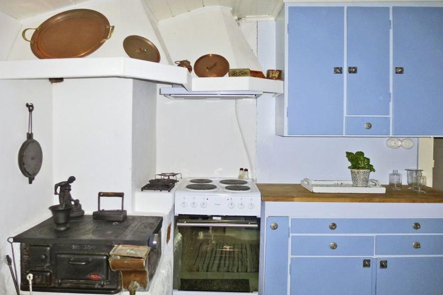 Rustikal aber voll Ausgestattet., die Küche.