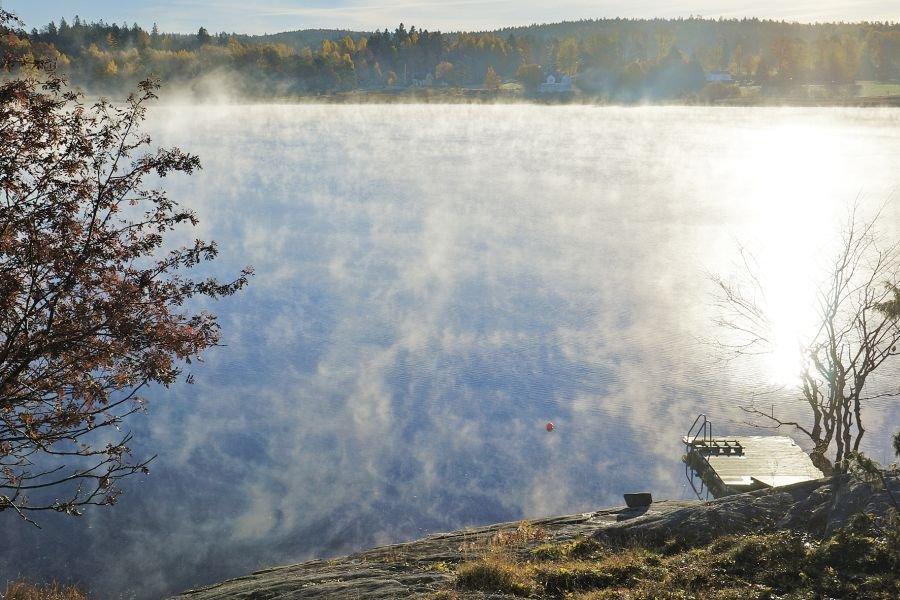 Sonnenaufgang in Schweden.